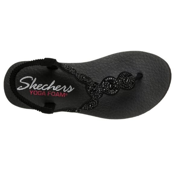 Sketchers Black Yoga Foam Sandals Sz 8